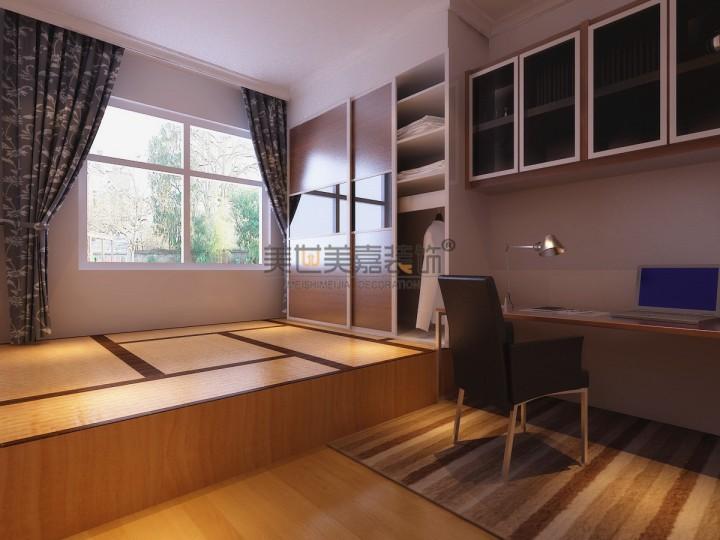 现代时尚风格三室两厅装修案例_效果图