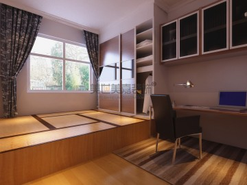 現代時尚風格三室兩廳裝修案例_效果圖