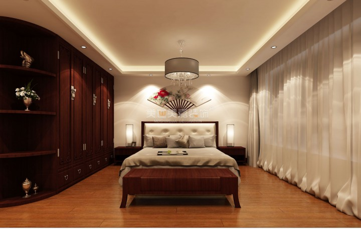 典雅中式风两室两厅设计效果图