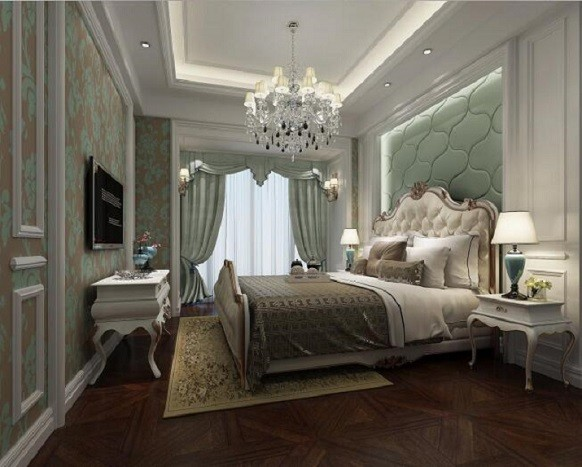 欧式典雅风格两室装修设计效果图