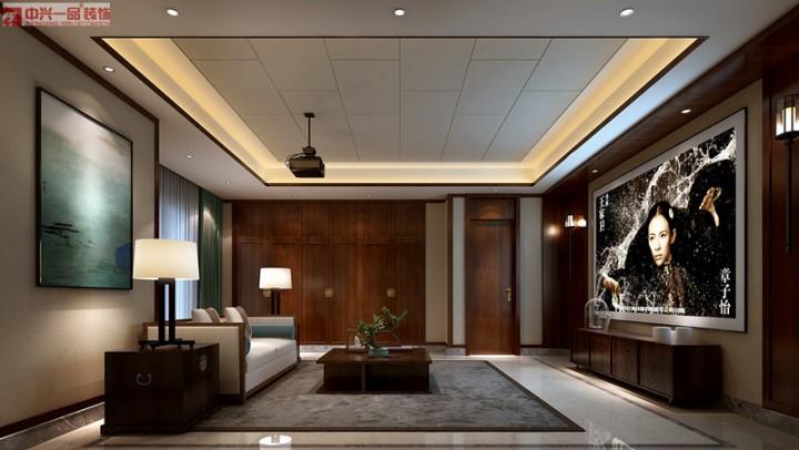 典雅新中式风格三室装修样板间