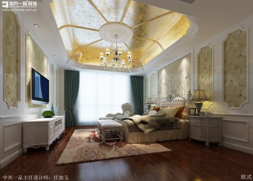 古典欧式风格复式楼装修效果设计图