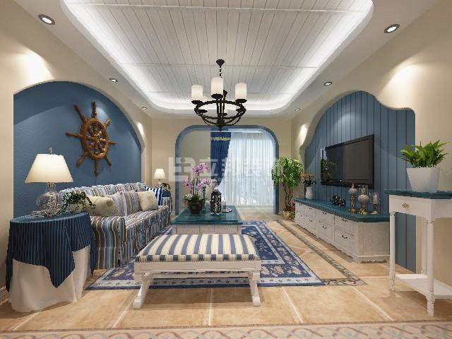 地中海风海蓝家装案例效果图欣赏