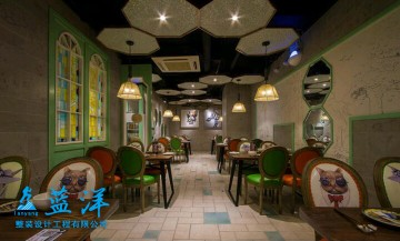 老上海风味餐馆装修案例欣赏