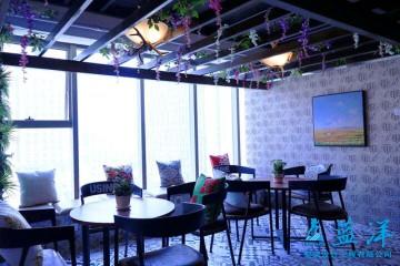 自然清新舒适办公室装修案例欣赏休息区