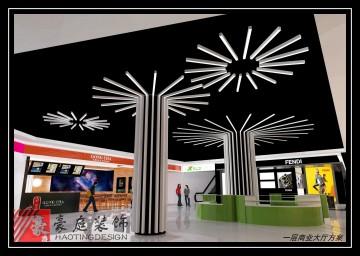一层商业大厅超市装修设计效果图