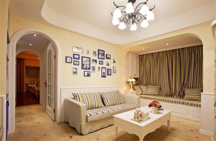 88平简美地中海风格家装设计图