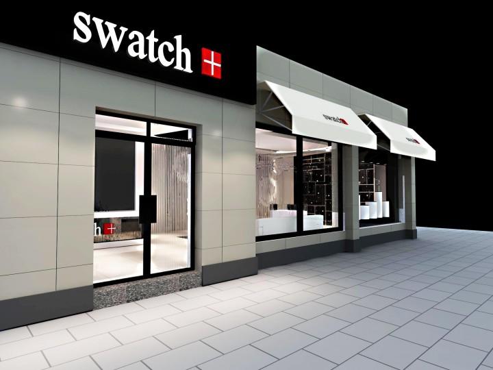 个性SWATCH手表店装修设计效果图