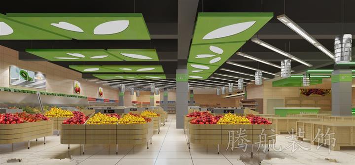 清爽超市装修设计效果图案例