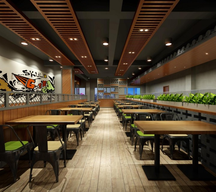 风味集快餐厅装修清晰大图