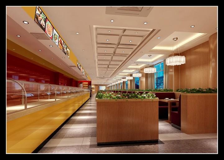 上塘米谷时尚快餐连锁餐厅效果图案例