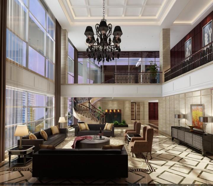 现代化商务酒店装修设计效果图