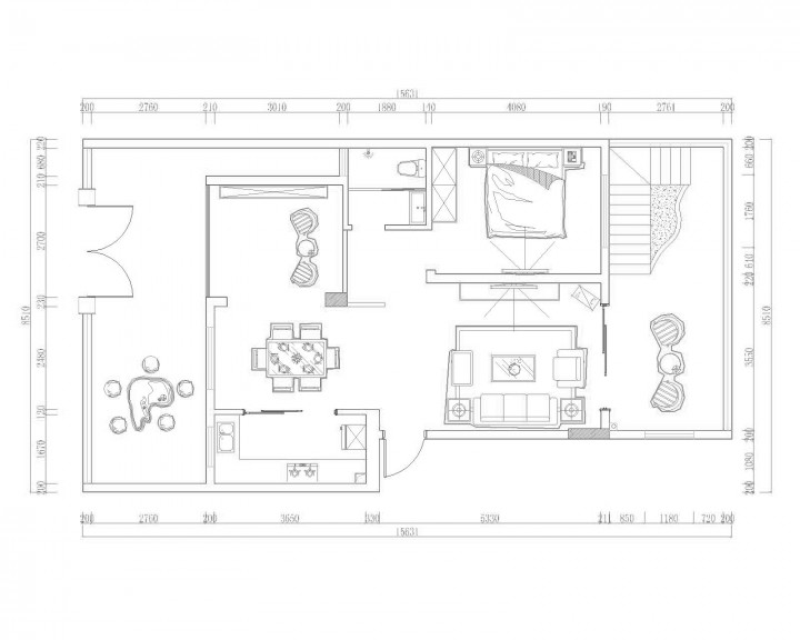 东方院后现代风格室内装修效果图