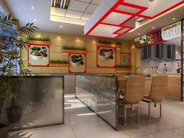 现代中国风餐饮店装修图片欣赏