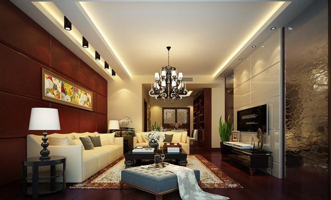 三居室新古典装修风格效果图