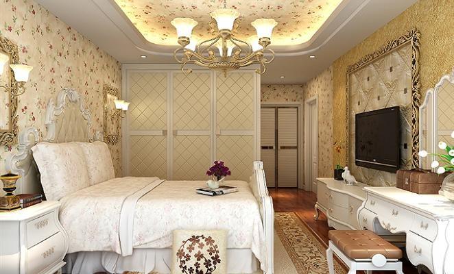 时尚简欧风情室内装修设计效果图