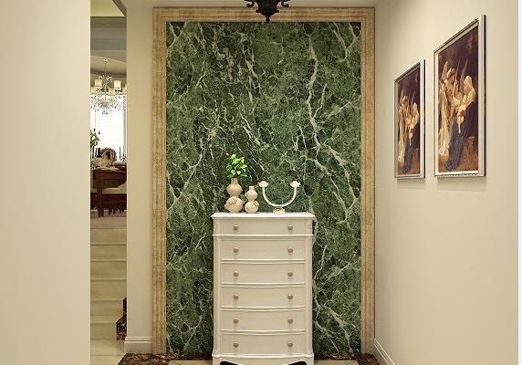 三居室时尚美式风格装修效果图