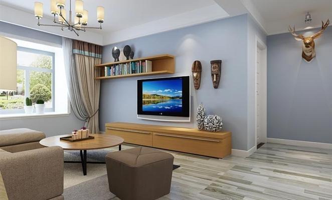 现代简约风格三居室室内效果图