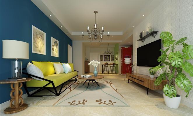 现代简约风格套房装修设计效果图