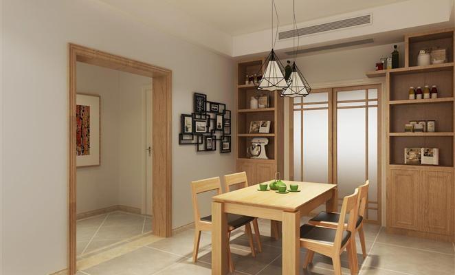 御河园两居室现代日式装修效果图