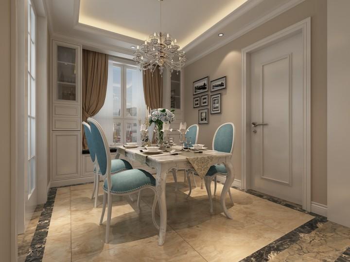 东城国际欧式风格三房装修设计图
