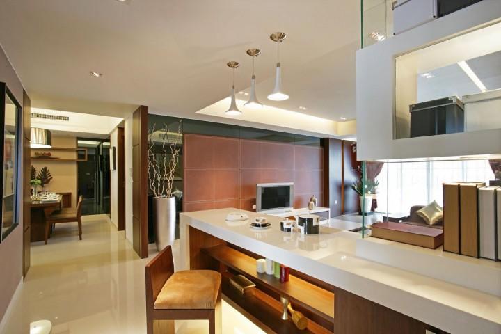 红谷新城新中式风格三居室装修案例赏析