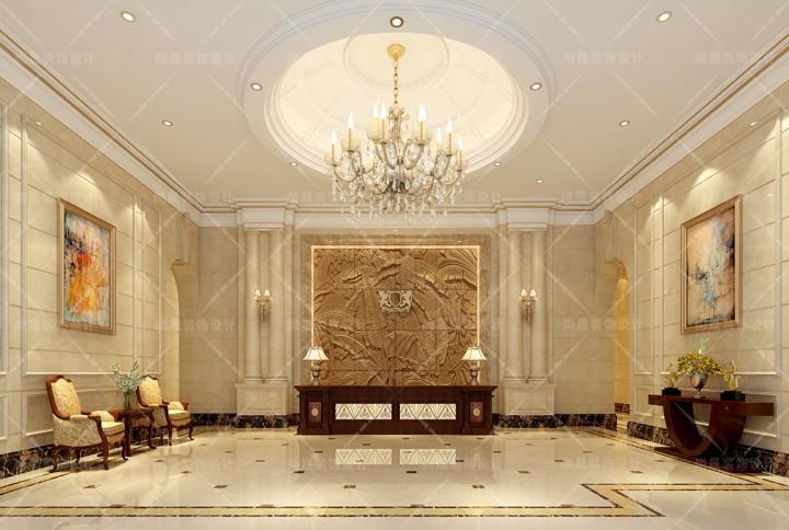 玉峰集团酒店式公寓大厅装修效果图