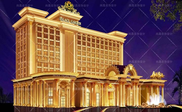 南通海门大酒店建筑外观设计图