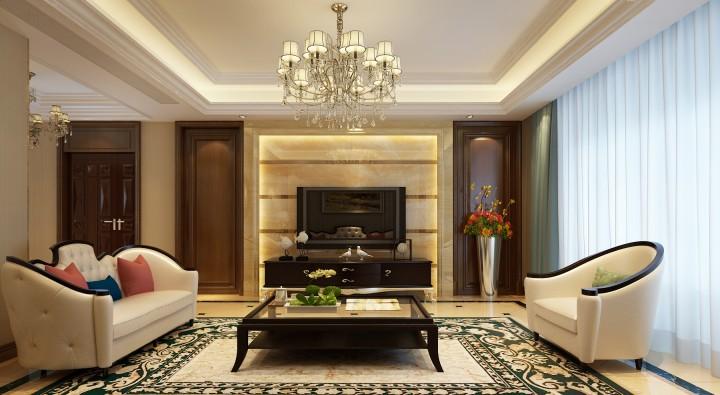 玫瑰园190平米简欧风格设计图