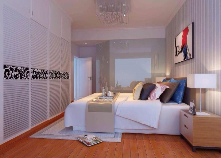 中珠上郡88方简约风格三居室半包6万
