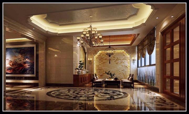 天桥峰景欧式风格160方4居室半包60万