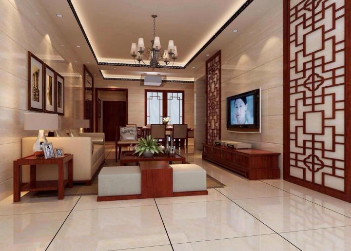电力家和城80方三居室新中式风格半包8万