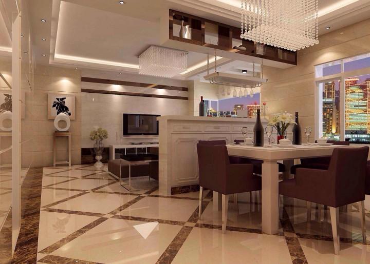 世荣名筑99方现代风格三居室半包12万