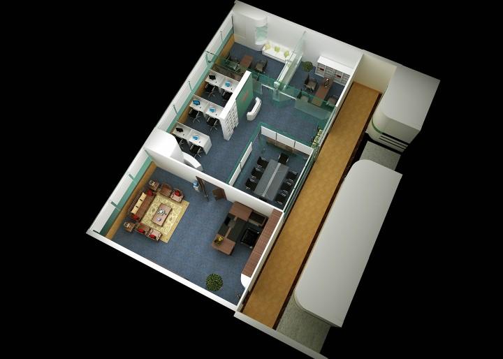 华成电子办公室装修设计案例欣赏