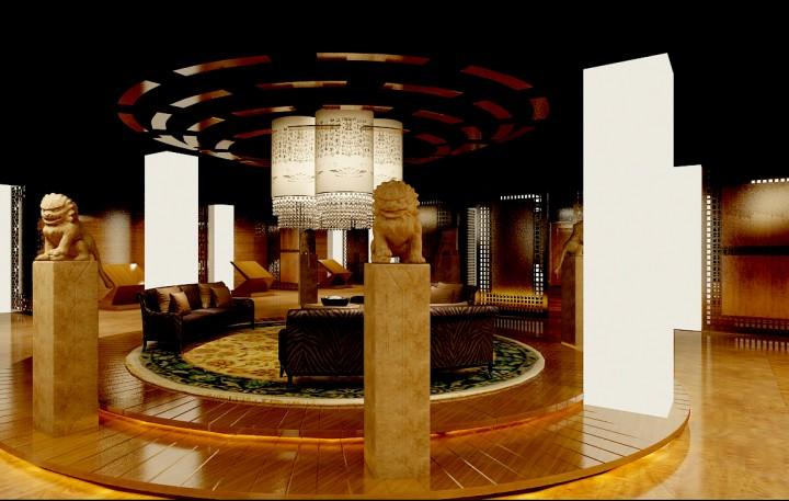 升达林业销售展厅设计效果图