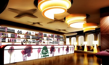 上岛咖啡2009年咖啡店装修效果图