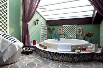 蓝白地中海风格别墅 ...