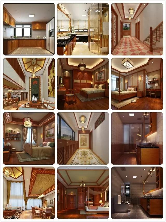 珠海万威森林园东南亚风格别墅装修效果图
