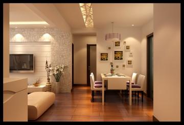 三居室現代簡約風格裝修效果圖