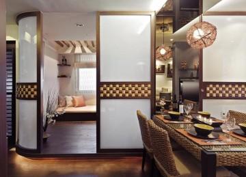 三居室东南亚装修风格效果图