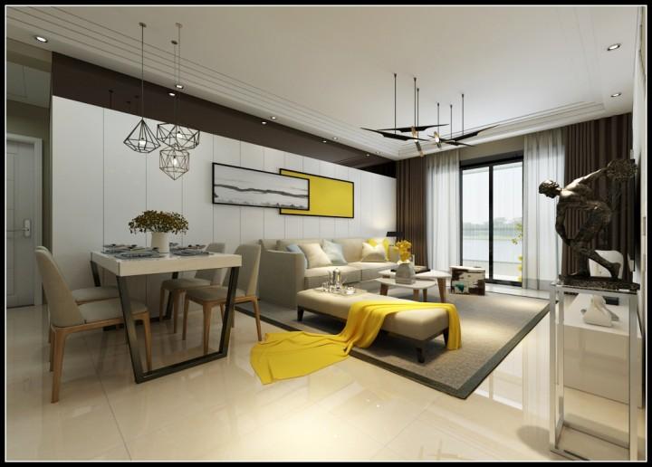 星河盛世三居室北欧风格设计效果图欣赏