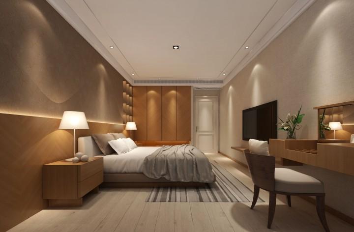 湖滨首府四室两厅中式风格设计效果图
