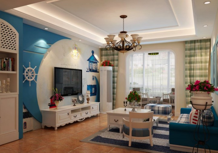三居室地中海装修设计效果图