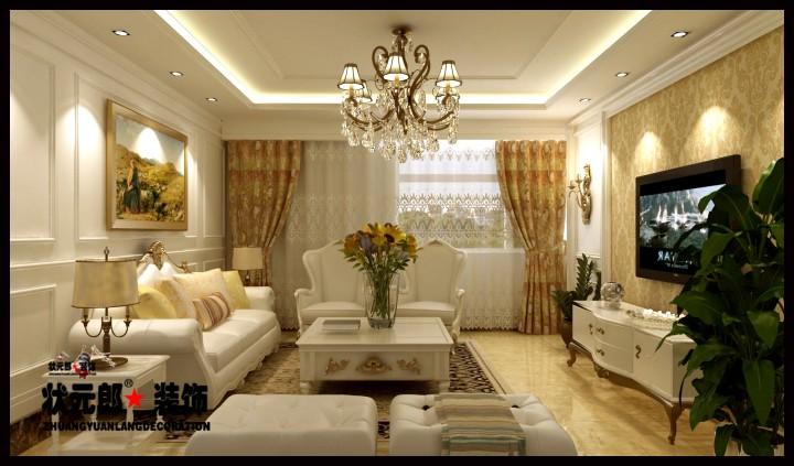 翰林观天下三室两厅欧式风格效果图欣赏