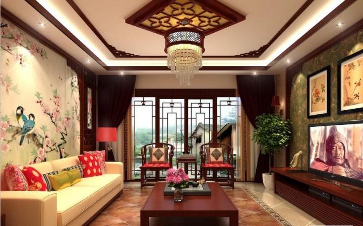 三居室中式风格设计效果图