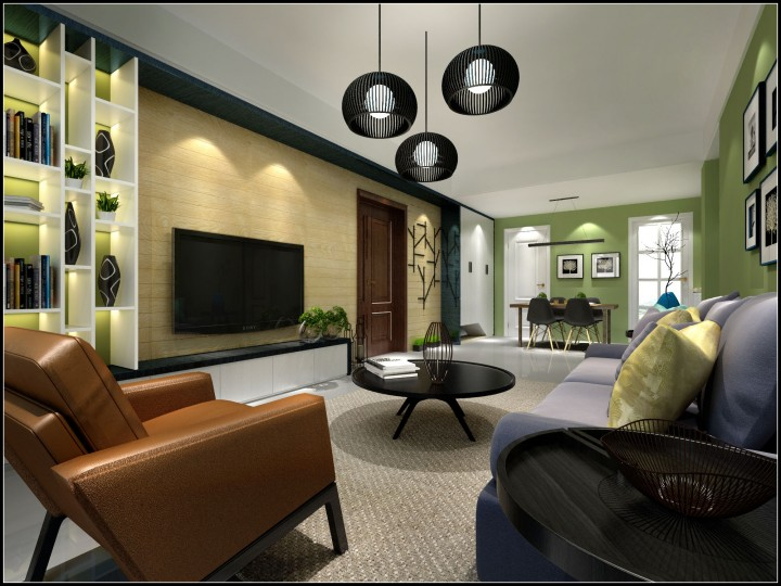 天山溪湖两室两厅简约风格设计效果图