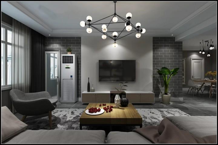 天山溪湖两居室现代简约风格效果图