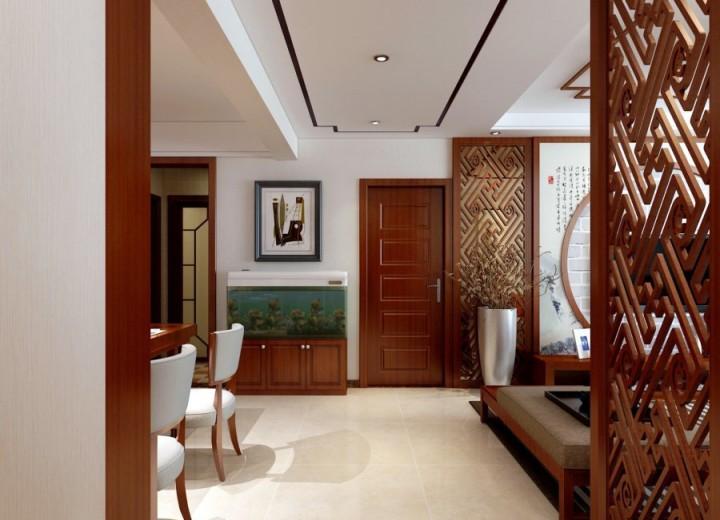 三室两厅新中式设计效果图