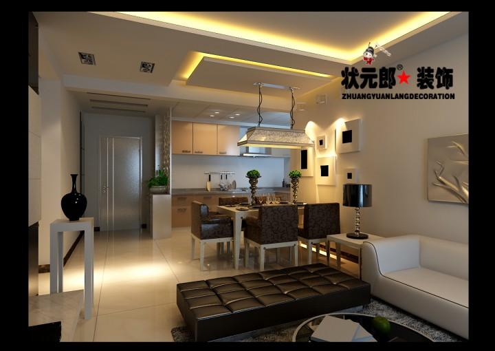 荣盛阿尔卡迪亚两居室现代简约风格设计效果图