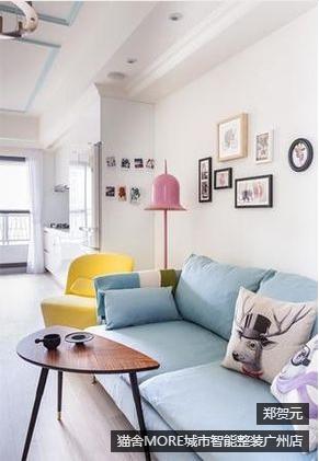 华景新城两居室现代简约装修效果图